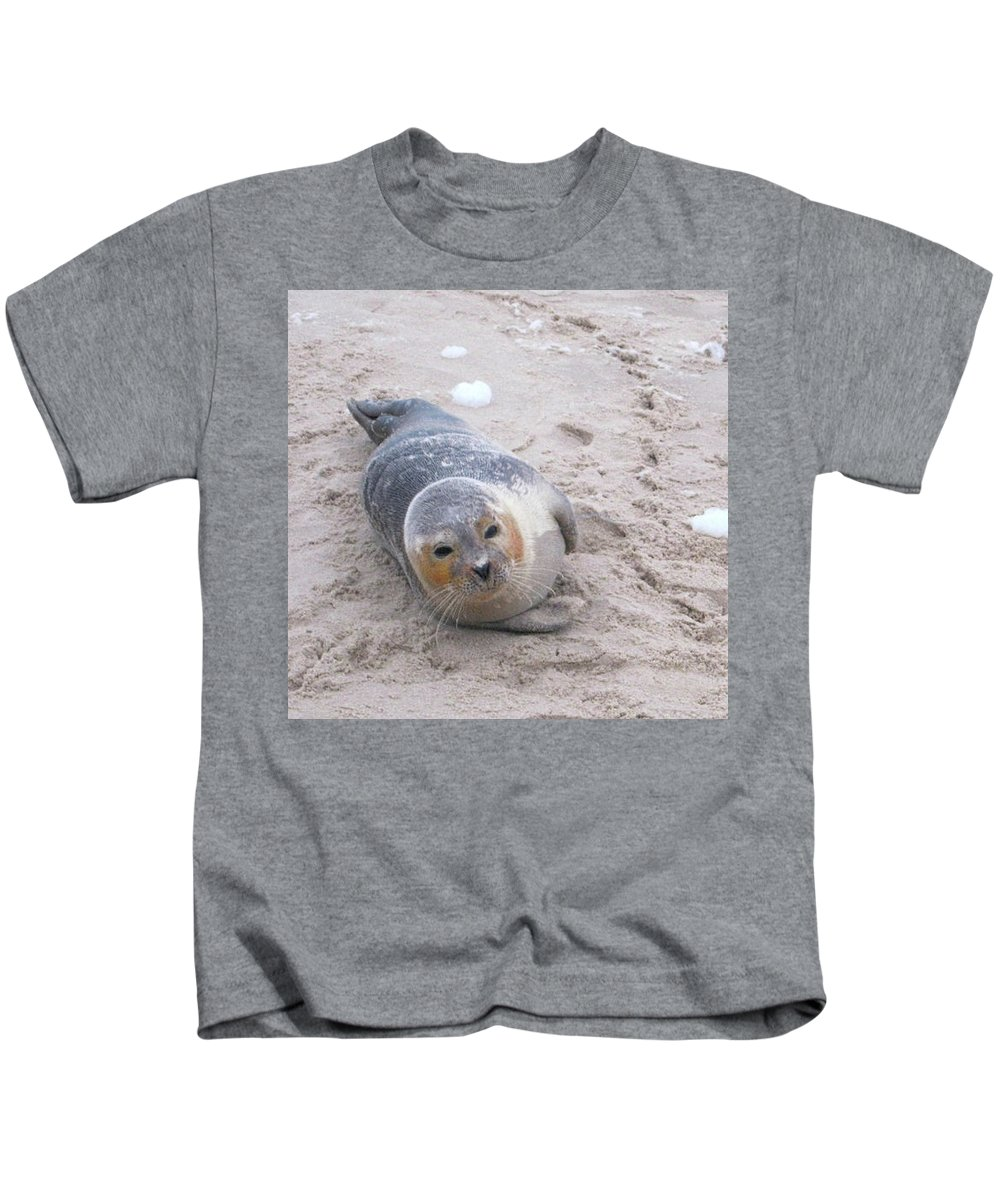 Robby Kids T-Shirt featuring the photograph Robby by Heidi Sieber