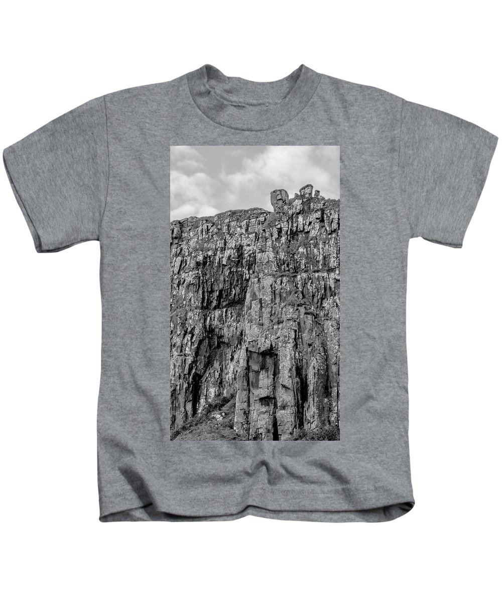Rock Kids T-Shirt featuring the photograph Rock Side Bw #g8 by Leif Sohlman