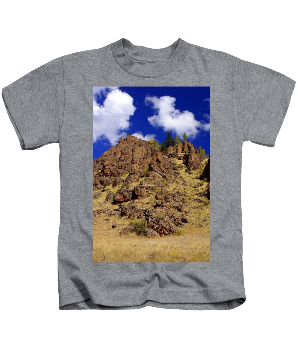 Colorado Kids T-Shirt featuring the photograph Rocky Butte by Marty Koch