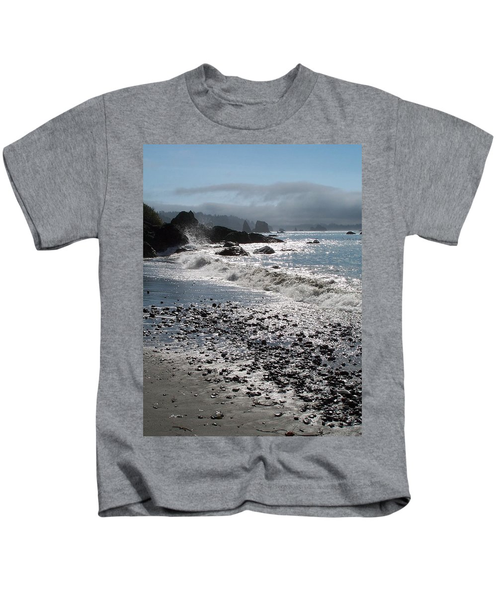 Ocean Kids T-Shirt featuring the photograph Rocky Shores by Gale Cochran-Smith