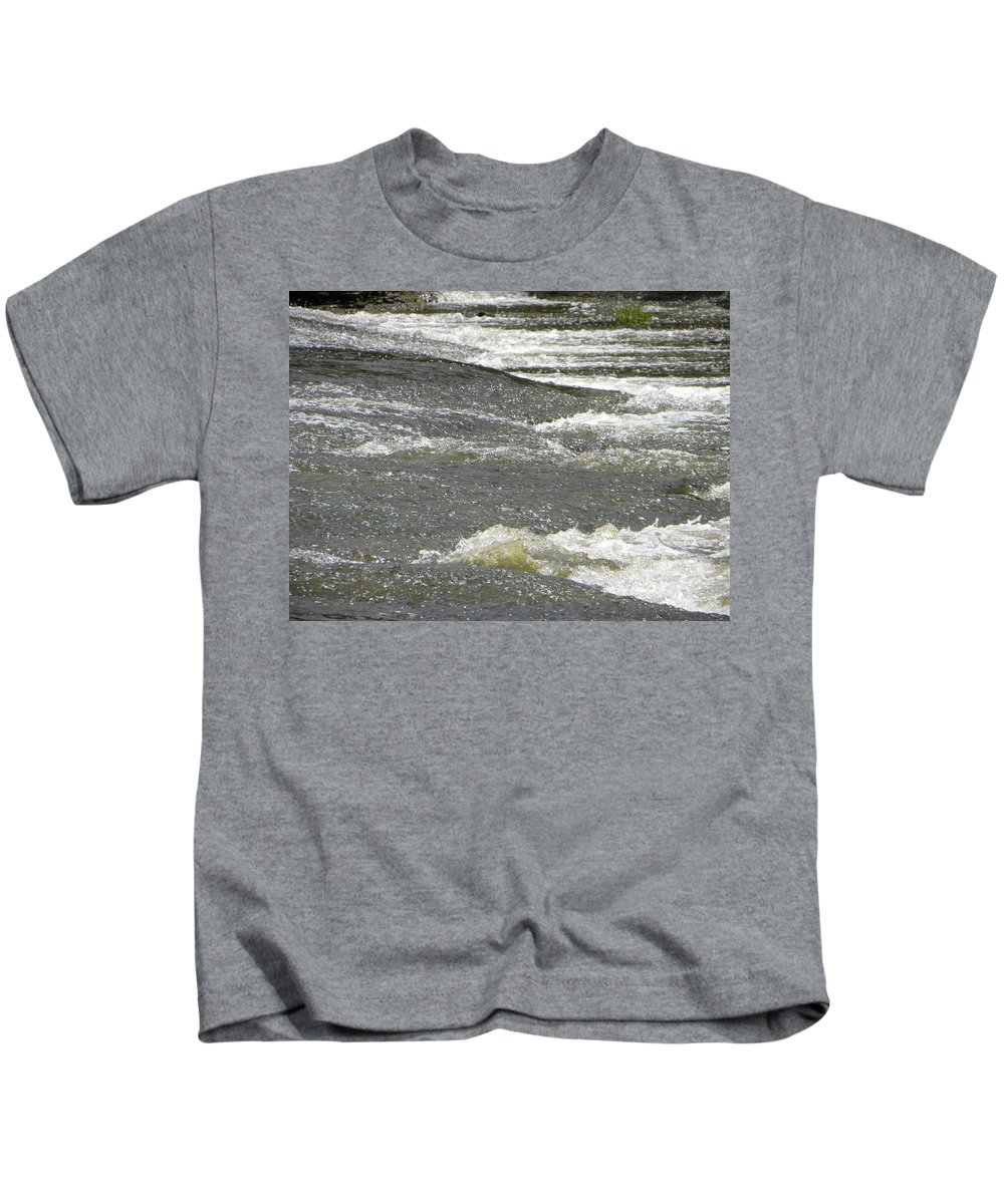 Water Kids T-Shirt featuring the photograph Rolling Rapids by Ric Schafer