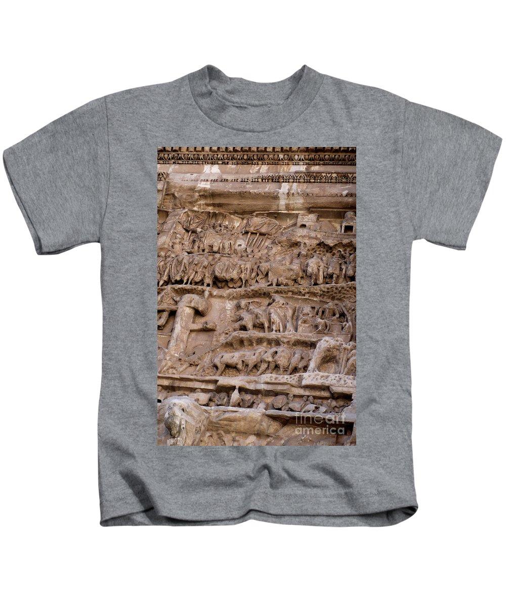 Rome Kids T-Shirt featuring the photograph Roman Wall by Carol Groenen