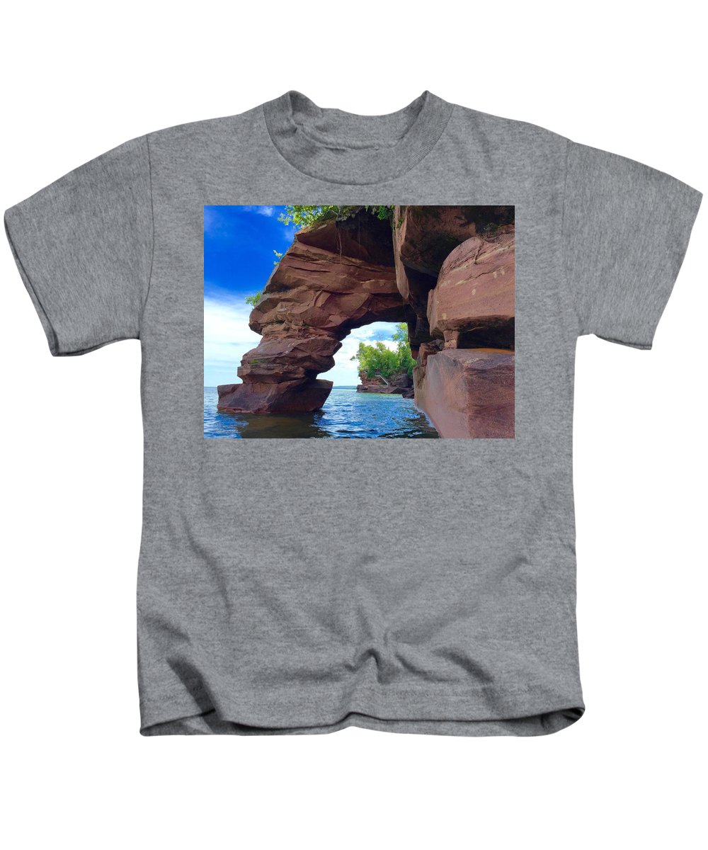Kids T-Shirt featuring the photograph Roman's Point Arch by James Stroshane