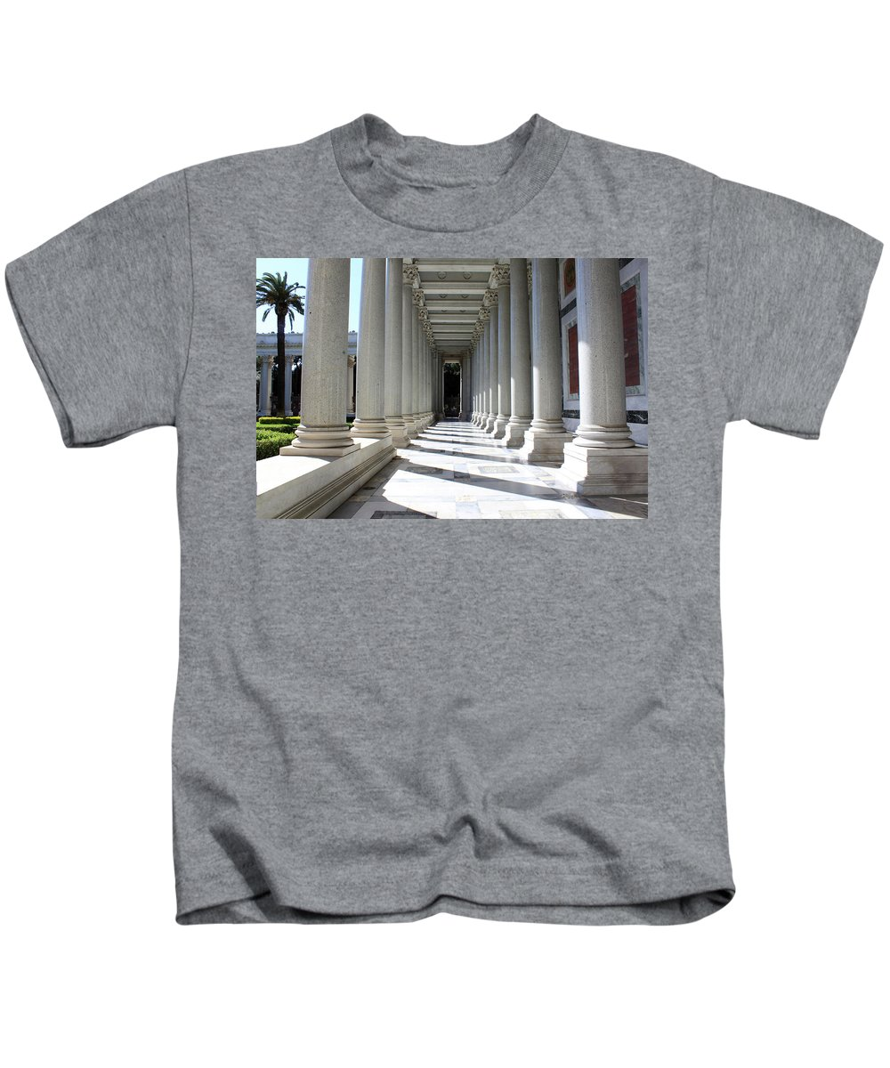 Pillar Kids T-Shirt featuring the photograph Rome Pillars by Munir Alawi