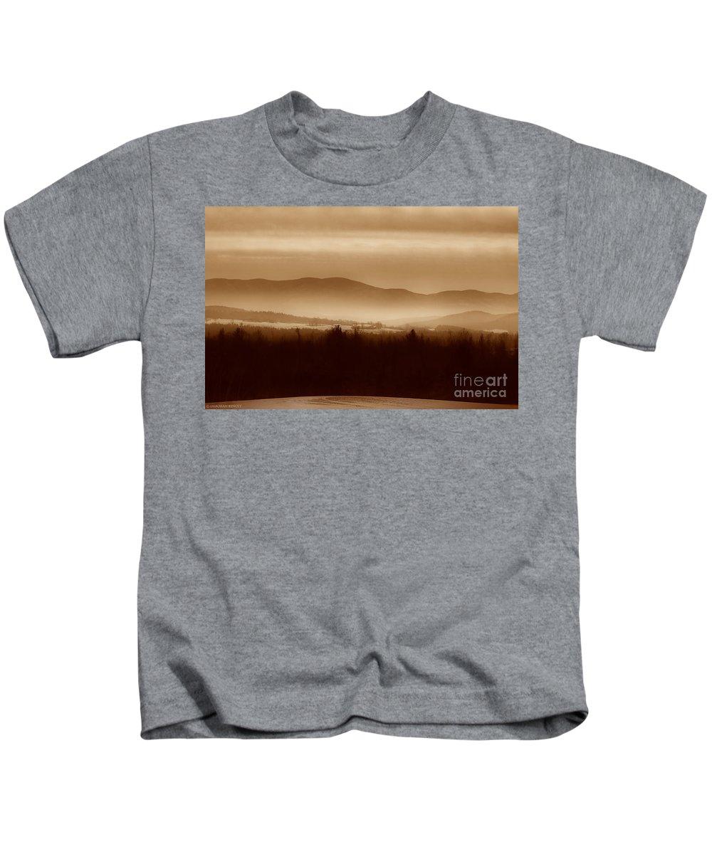 Landscape Kids T-Shirt featuring the photograph Route 120 Vermont View by Deborah Benoit