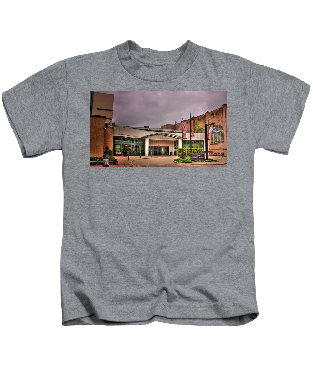 Joliet Kids T-Shirt featuring the photograph Route 66 Welcome Center by Fred Hahn