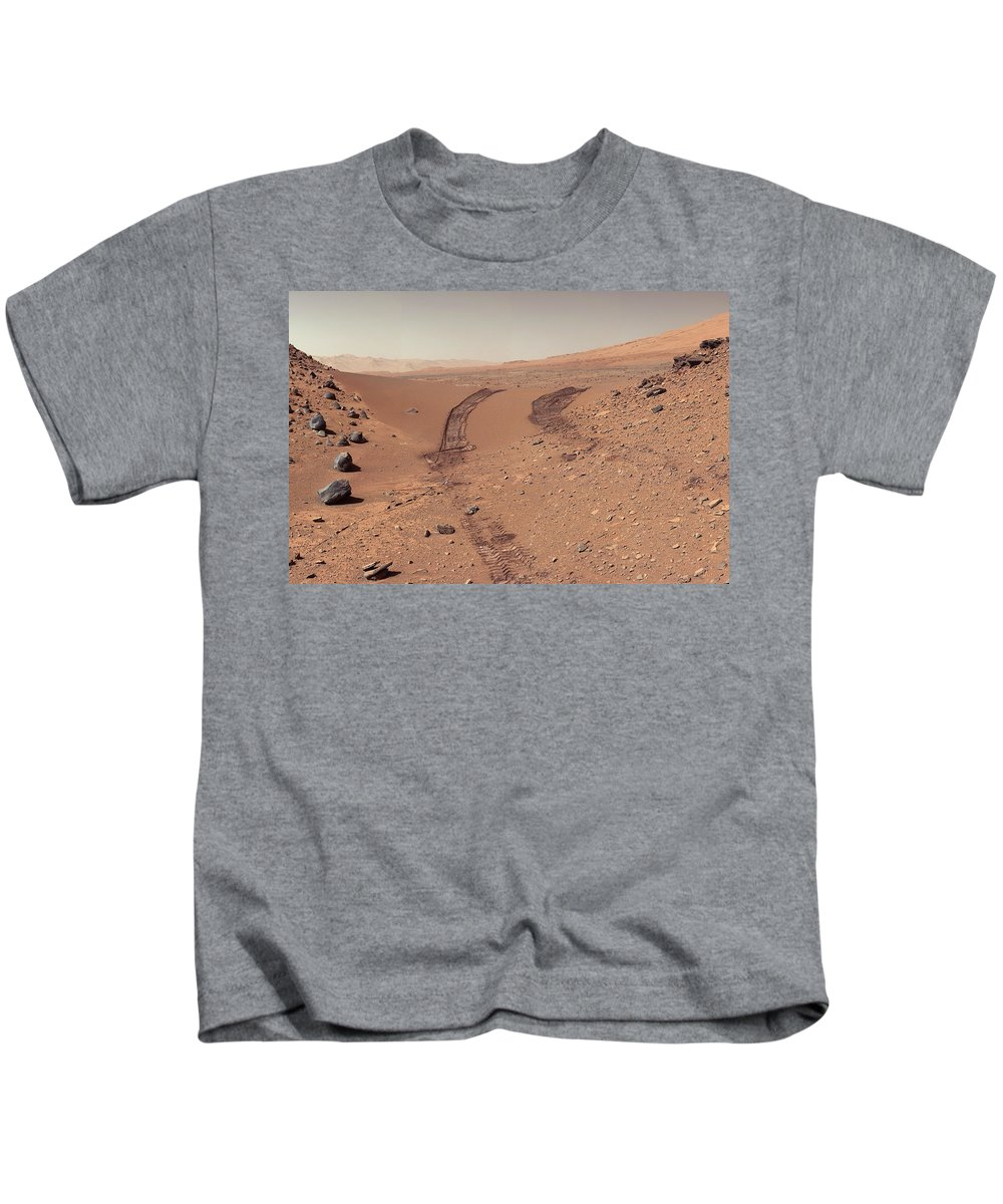 Mars Kids T-Shirt featuring the photograph Roving Across Mars 1 - Earth Light by Nasa