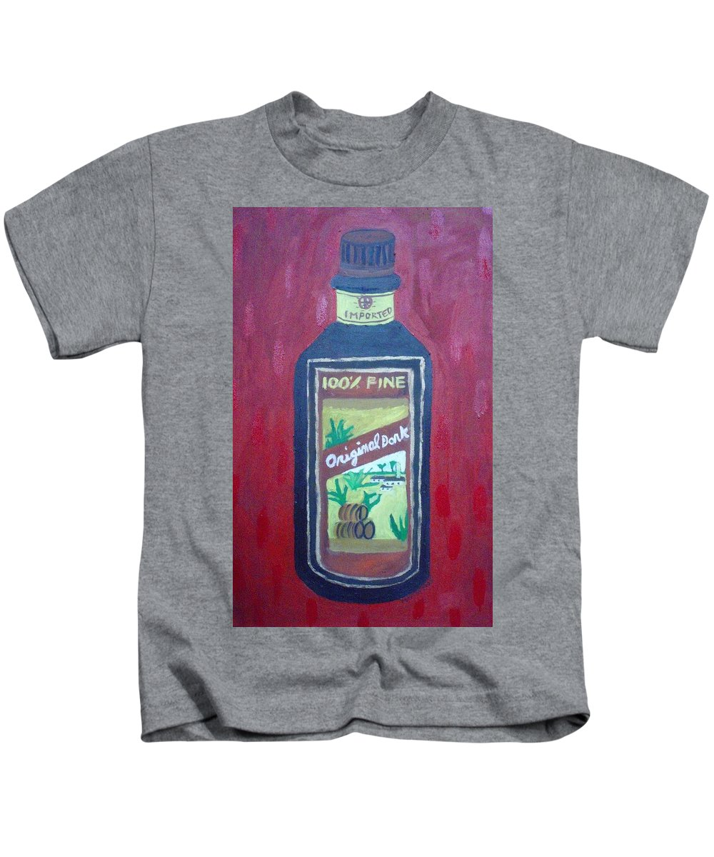 Oil On Canvas Kids T-Shirt featuring the painting Rum by Patrice Tullai