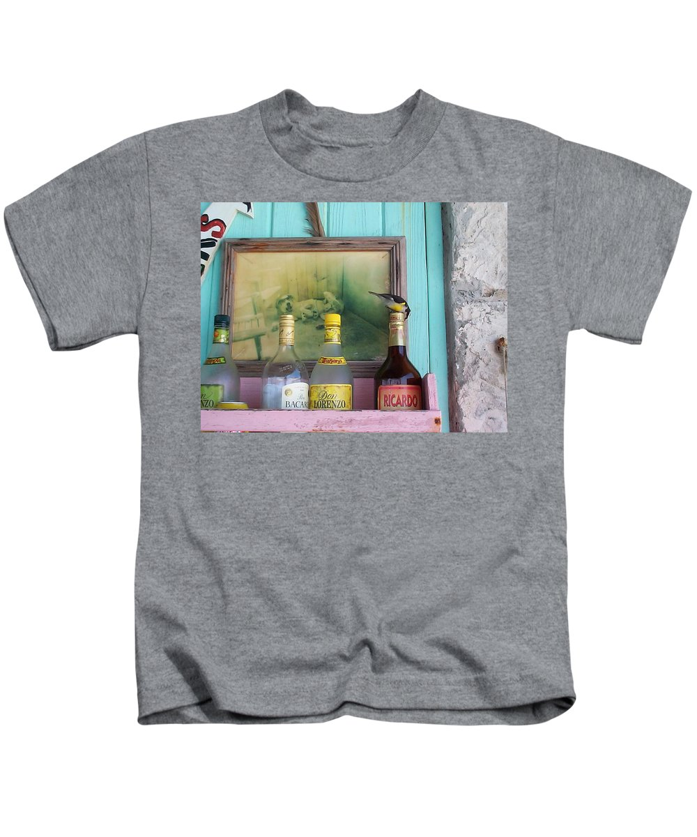 Charity Kids T-Shirt featuring the photograph Rum Shack Bananaquit by Mary-Lee Sanders