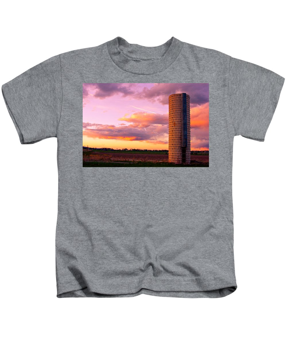 Sunrise Kids T-Shirt featuring the photograph Rural Boulder County Sunset by James BO Insogna