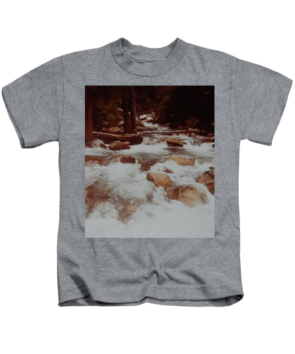 Water Kids T-Shirt featuring the photograph Rushing Water by Rob Hans