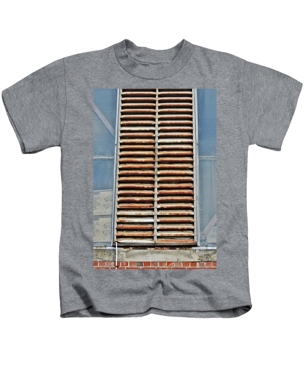 Ventilation Kids T-Shirt featuring the photograph Rusted Shut by Stephen Mitchell