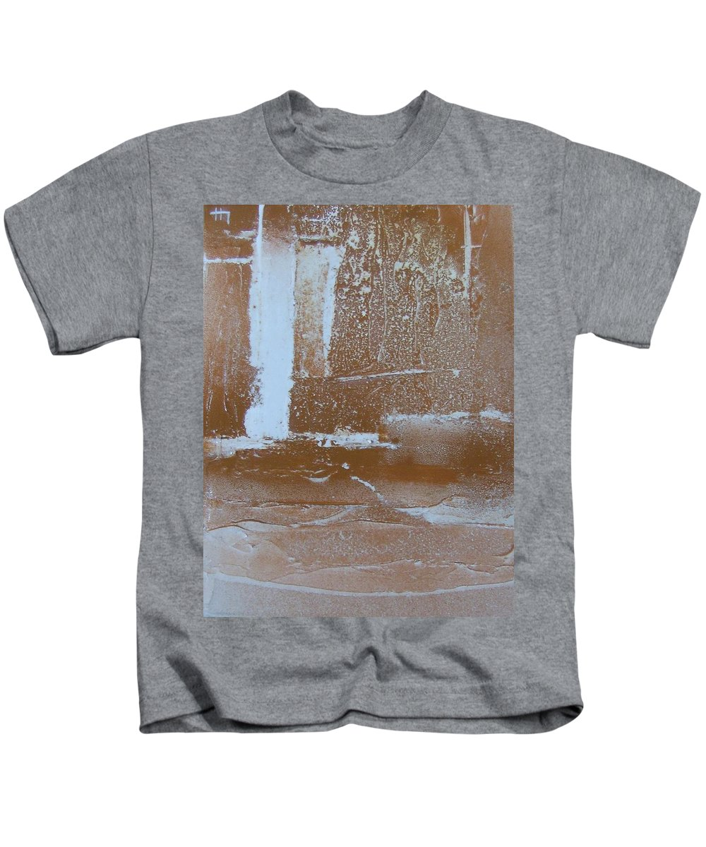 Canvas Kids T-Shirt featuring the painting Rustic Snow by Leah Hicks