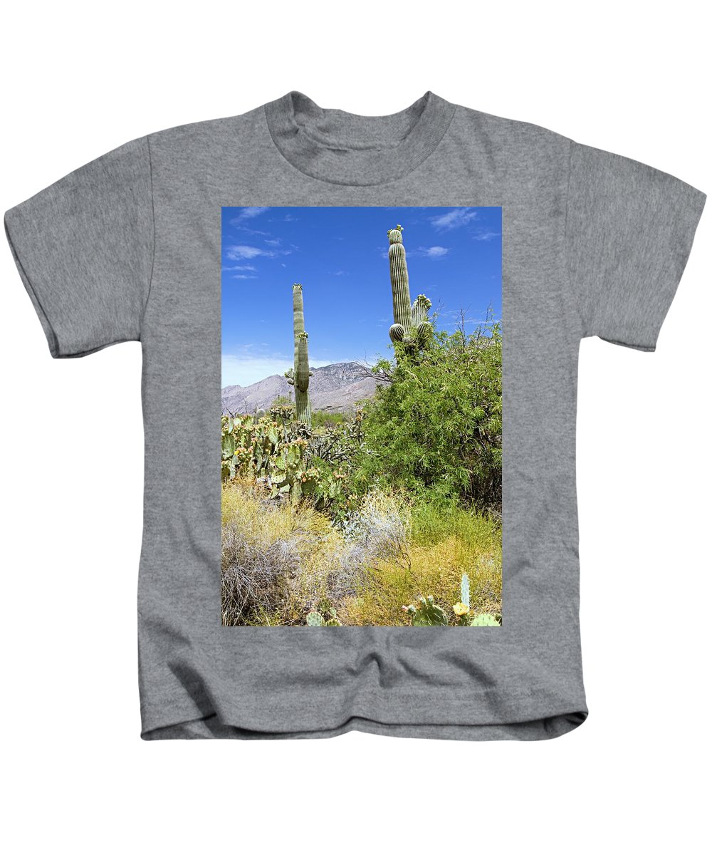 Sabino Canyon Kids T-Shirt featuring the photograph Sabino Canyon by Larry Ricker