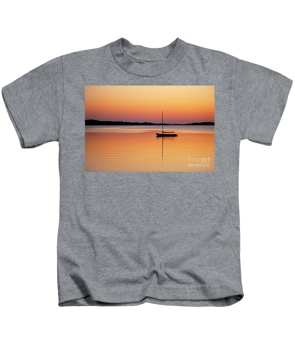 Cape Cod Kids T-Shirt featuring the photograph Sailboat Sunset by John Greim