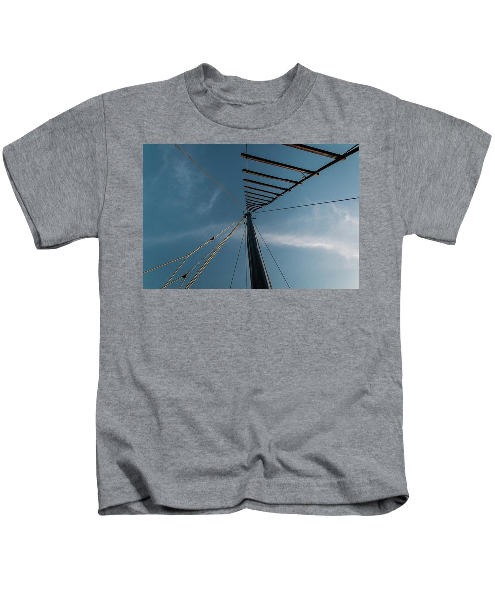 3:2 Classic 35mm Kids T-Shirt featuring the photograph Sail...till The World Ends by AnililnaPics