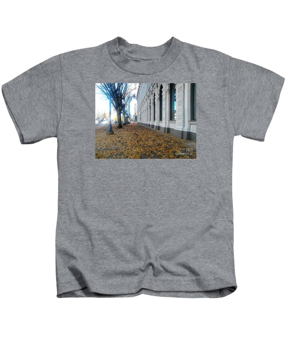Salem Kids T-Shirt featuring the photograph Autumn In Salem by Geoff Sadler Designs