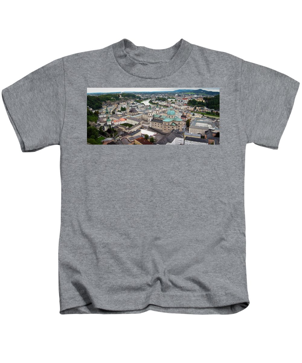 3scape Kids T-Shirt featuring the photograph Salzburg Panoramic by Adam Romanowicz