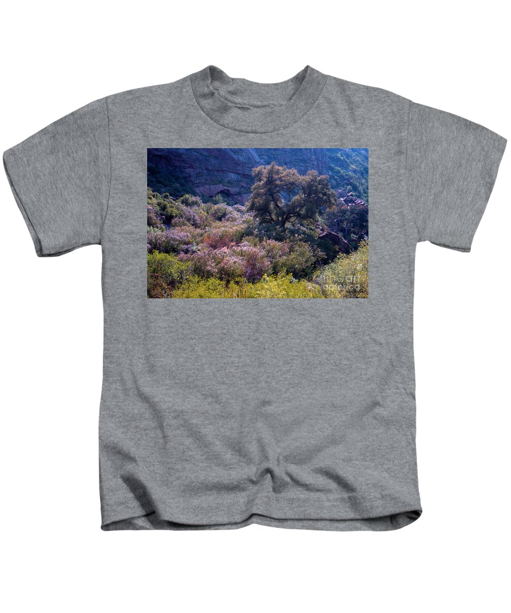 Canyon Kids T-Shirt featuring the photograph San Diego County Canyon by Alan Thwaites
