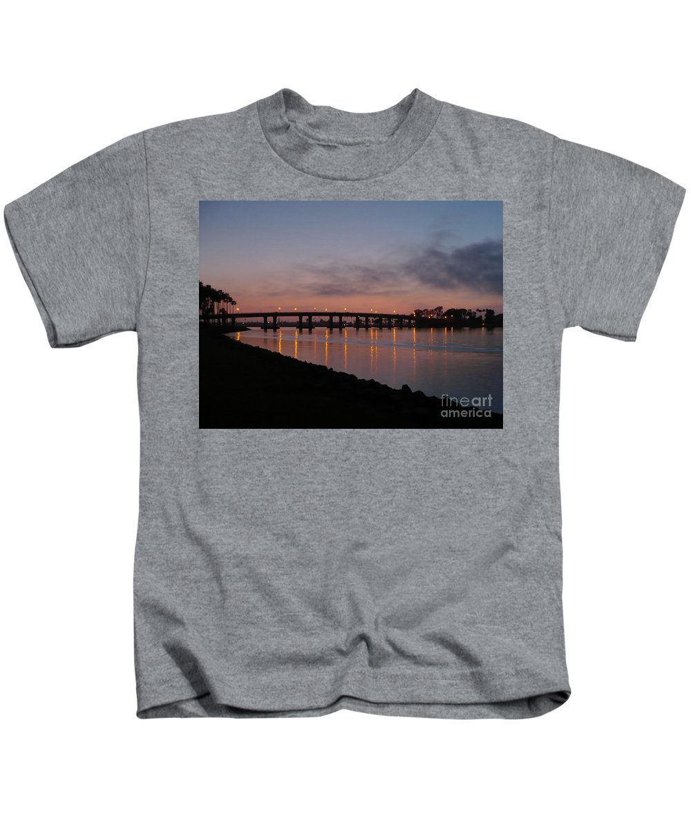 San Diego Kids T-Shirt featuring the photograph San Diego Sunset 1 by Carol Groenen