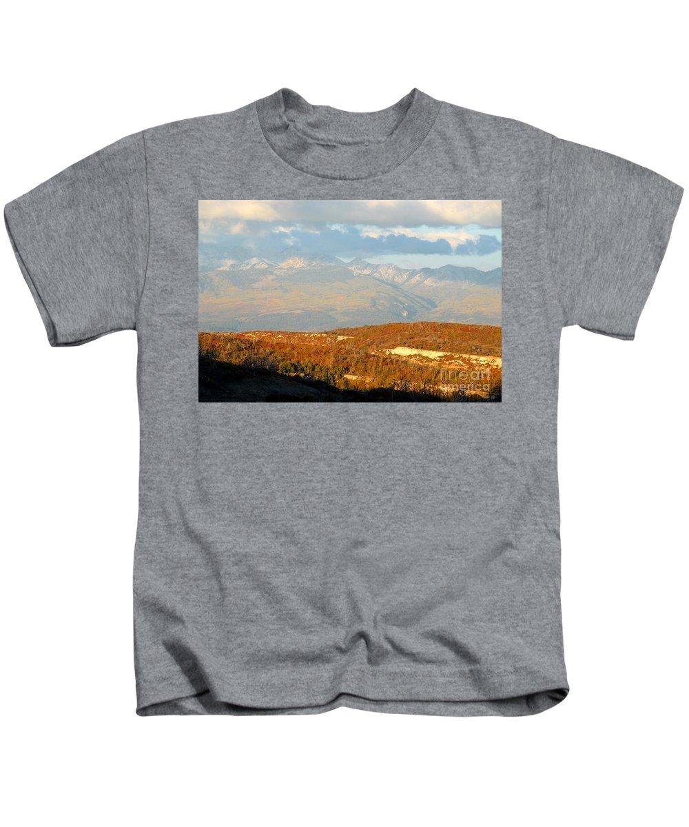 San Juan Mountains Colorado Kids T-Shirt featuring the photograph San Juan Mountains by David Lee Thompson