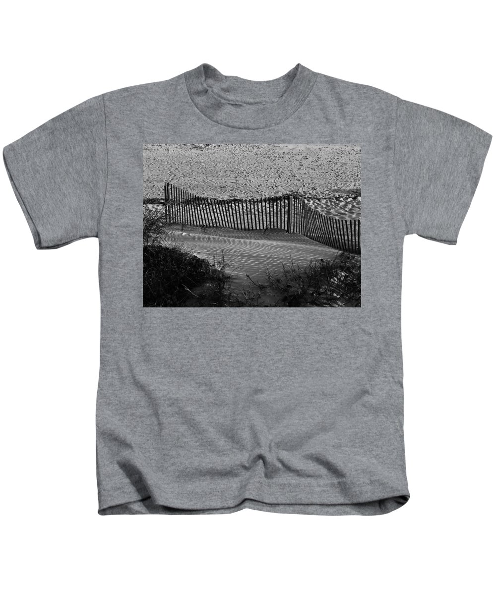 Ocean Kids T-Shirt featuring the photograph Sand And Shadows by Teresa Mucha