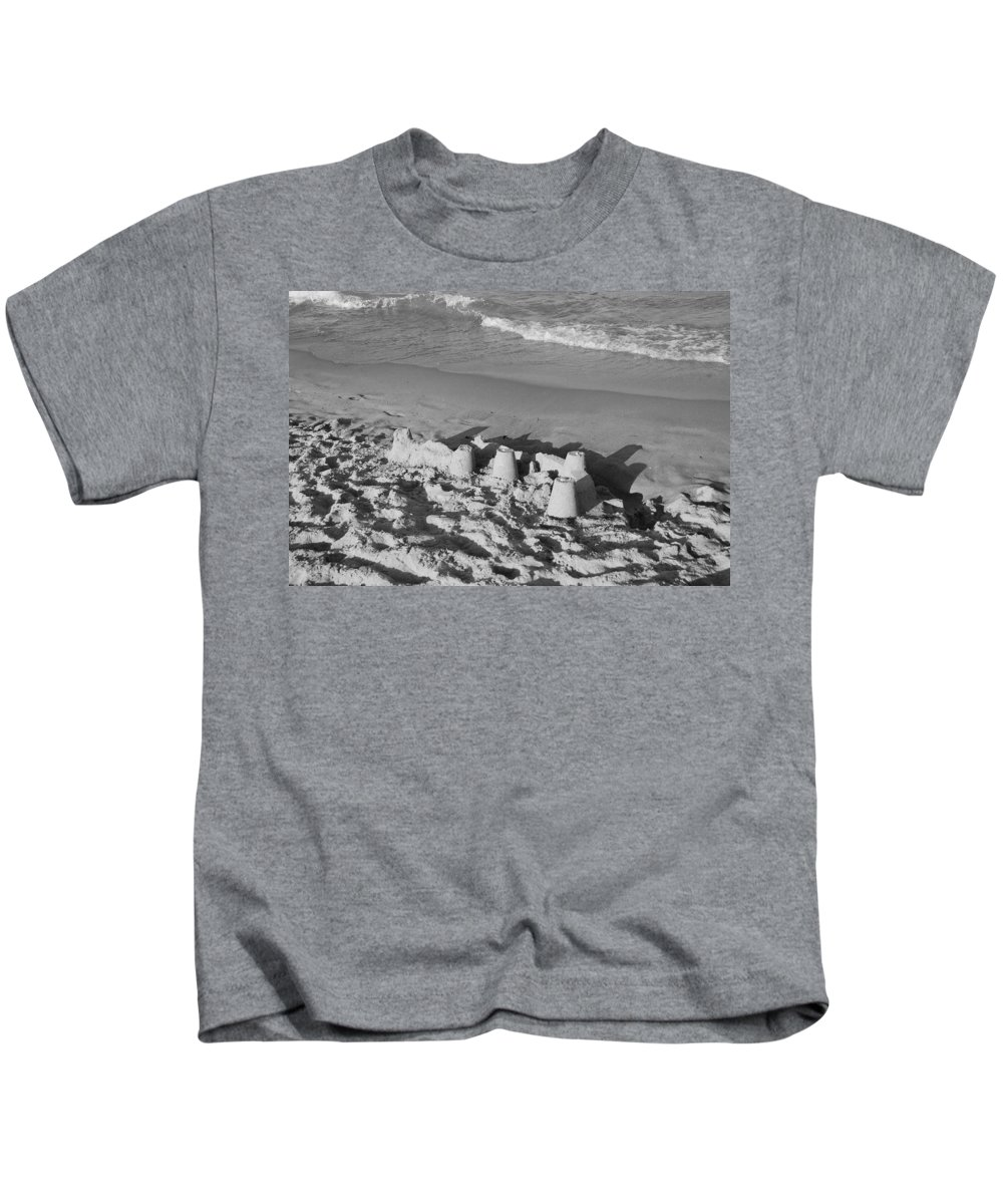 Sea Scape Kids T-Shirt featuring the photograph Sand Castles By The Shore by Rob Hans