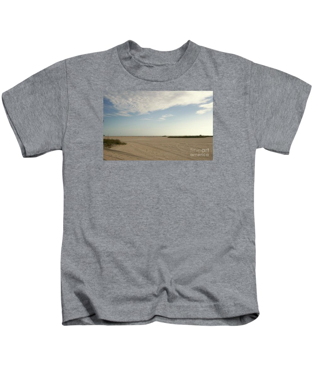 Nature Kids T-Shirt featuring the photograph Sand Storm At St. Pete Beach by Gail Kent