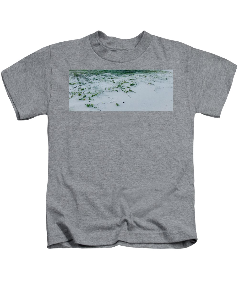 Beach Vines Kids T-Shirt featuring the photograph Sandscape Vines by Anthony Robinson