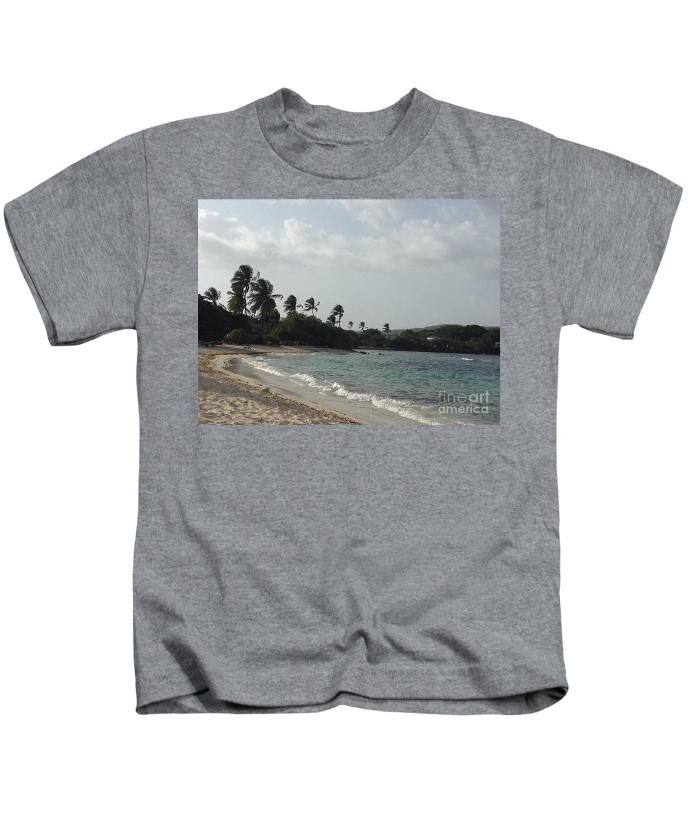St. Thomas Kids T-Shirt featuring the photograph Sapphire Palms by Gina Sullivan