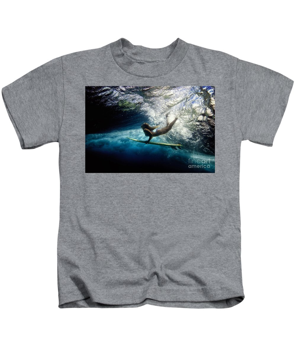 Duck Dive Kids T-Shirt featuring the photograph Sarah by Francois Laborde