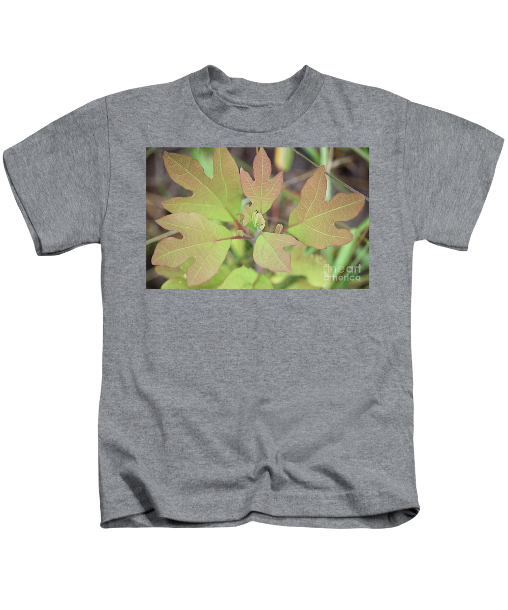 Nature Kids T-Shirt featuring the photograph Sassafras by Brook Steed