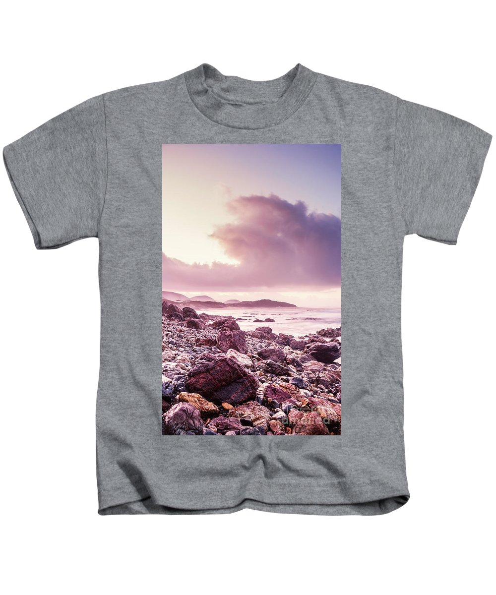 Dawn Kids T-Shirt featuring the photograph Scenic Seaside Sunrise by Jorgo Photography - Wall Art Gallery