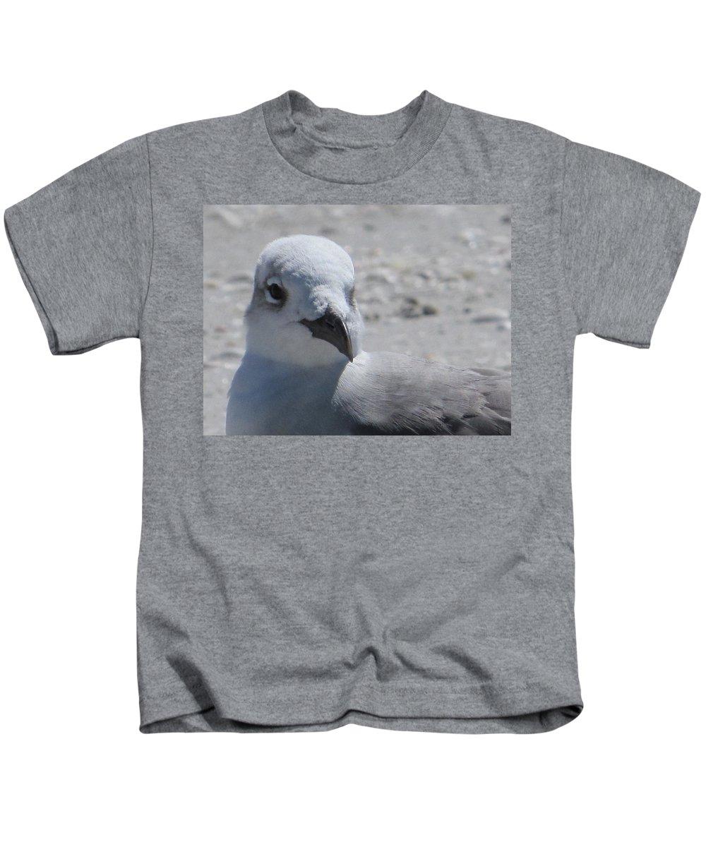 Sea Birds Kids T-Shirt featuring the painting Sea Birds Sanibel Island by Deborah Martin