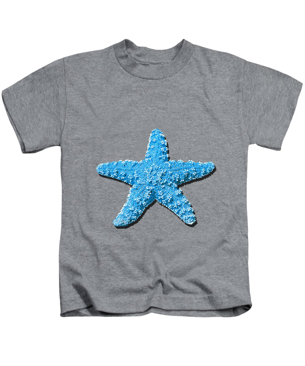 Sea Star Kids T-Shirt featuring the photograph Sea Star Light Blue .png by Al Powell Photography USA