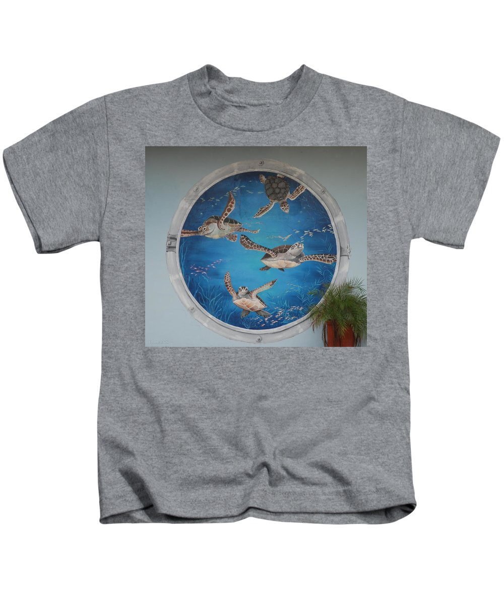 Sea Turtles Kids T-Shirt featuring the photograph Sea Turtles by Rob Hans