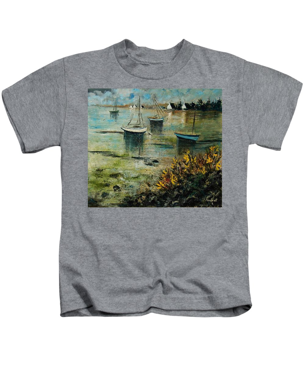 Seascape Kids T-Shirt featuring the print Seascape 78 by Pol Ledent