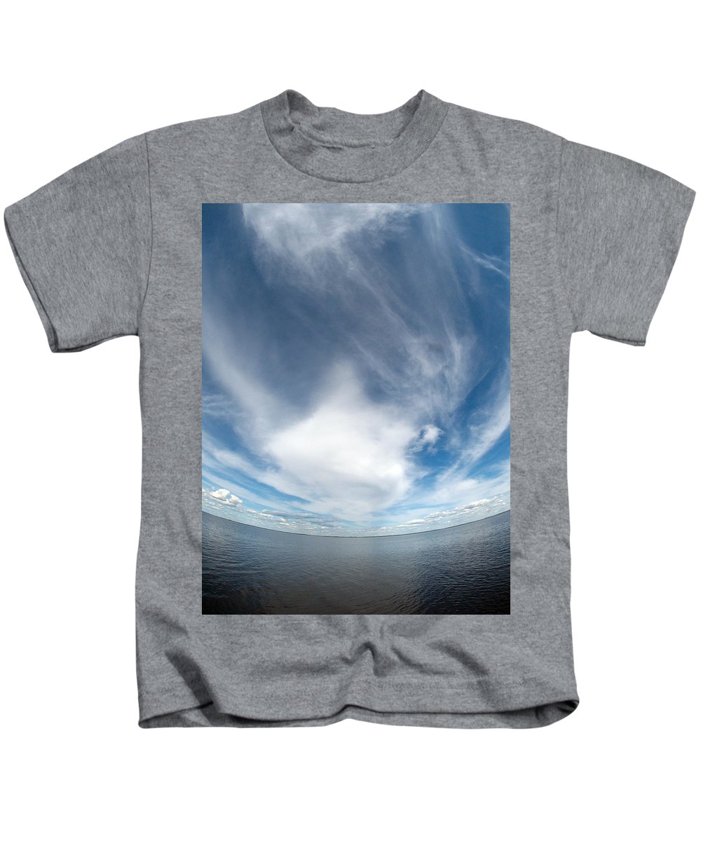 Gulf Of Bothnia Kids T-Shirt featuring the photograph Seascape by Jouko Lehto