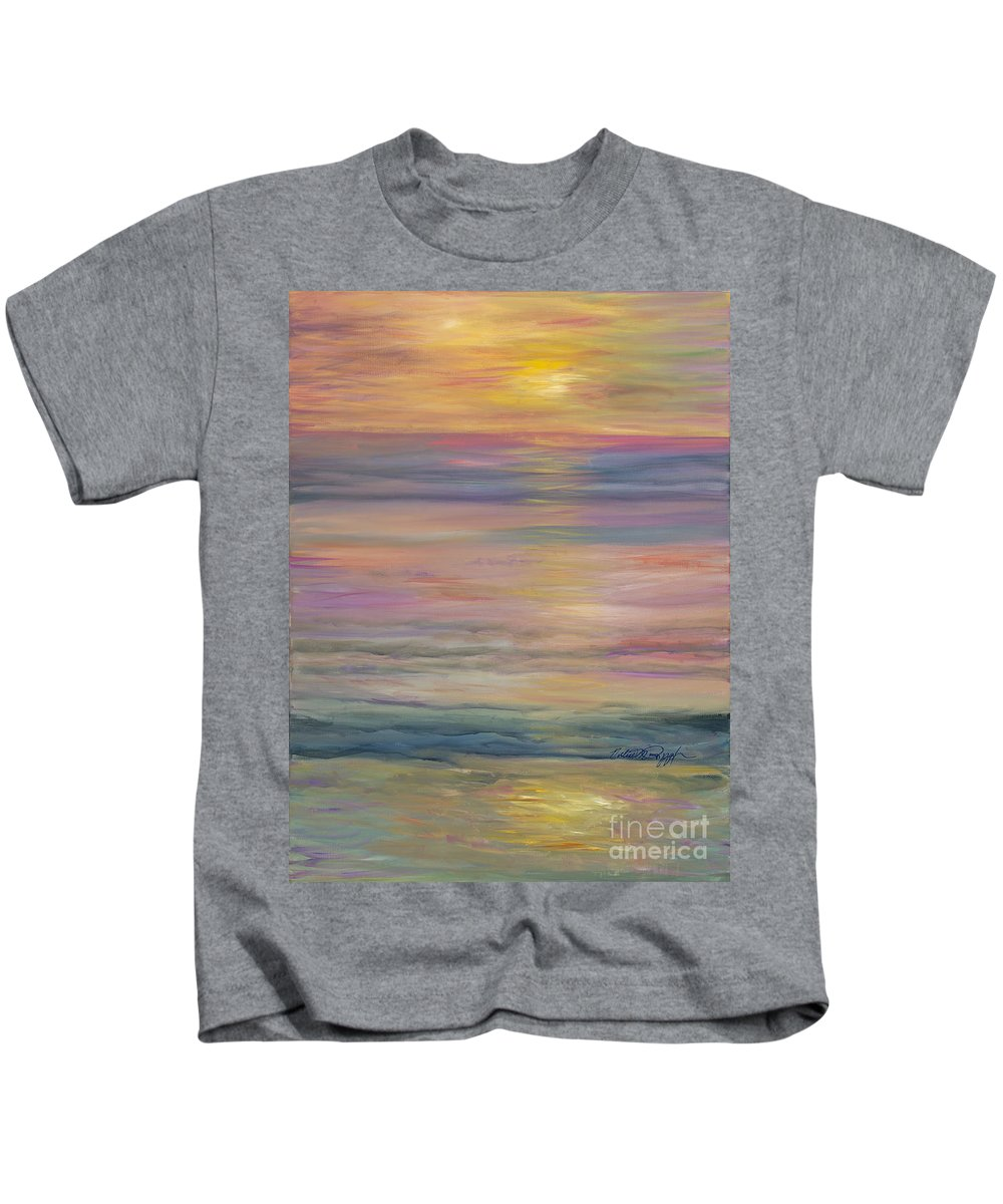 Sea Kids T-Shirt featuring the painting Seascape by Nadine Rippelmeyer