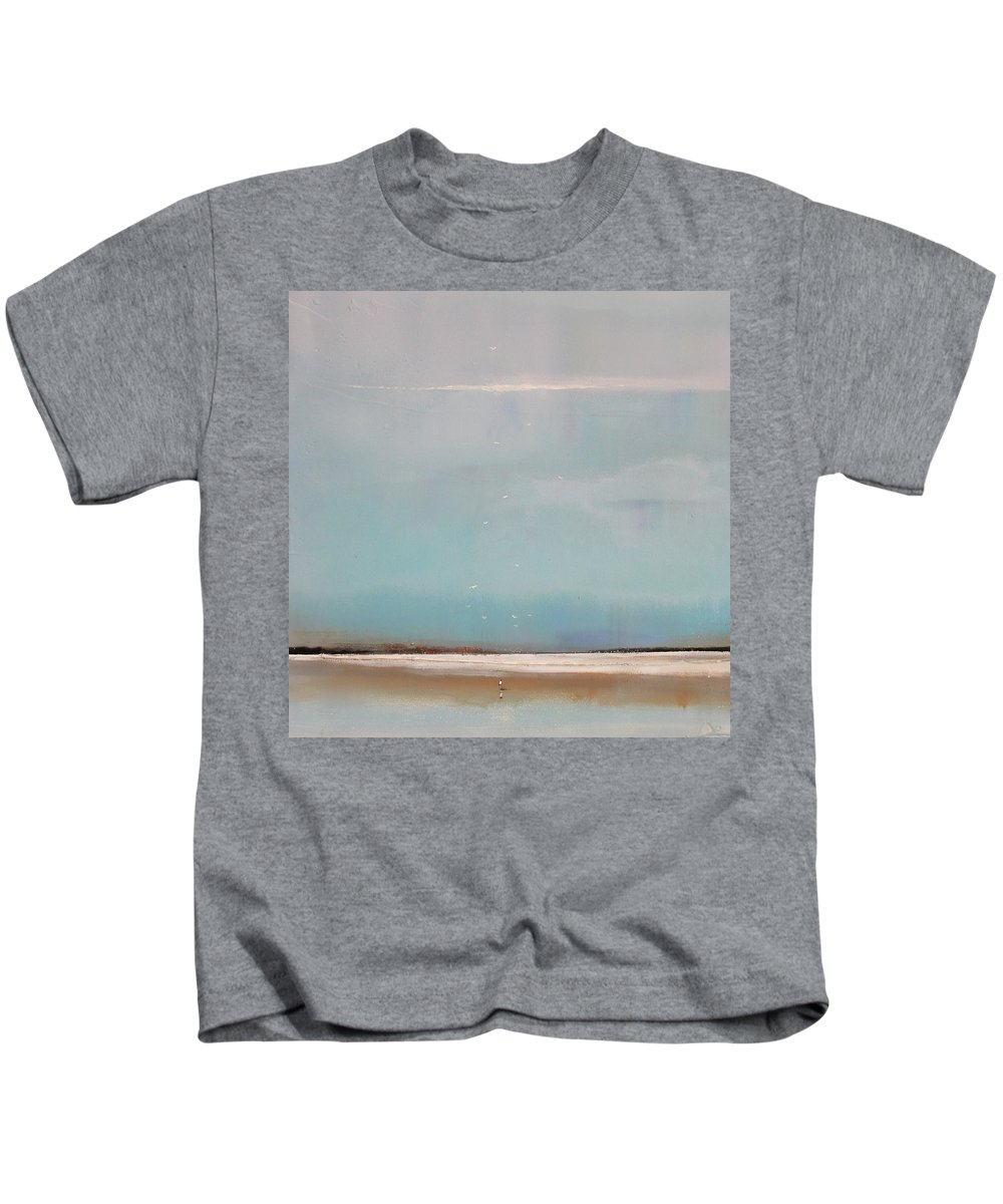 Seagulls Kids T-Shirt featuring the painting Seashore Seagulls by Toni Grote