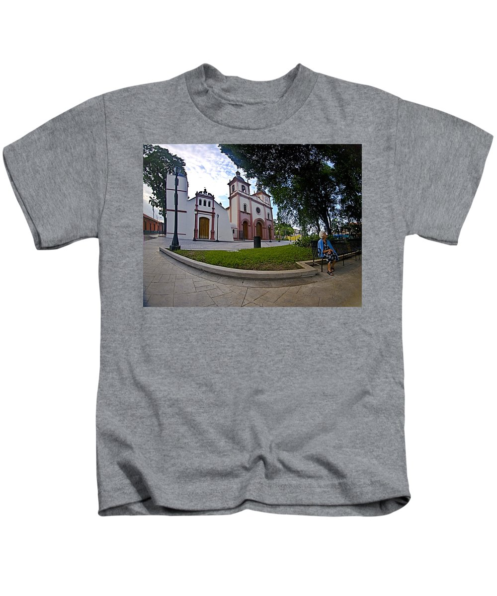 Seated Woman Kids T-Shirt featuring the photograph Seated Woman by Galeria Trompiz
