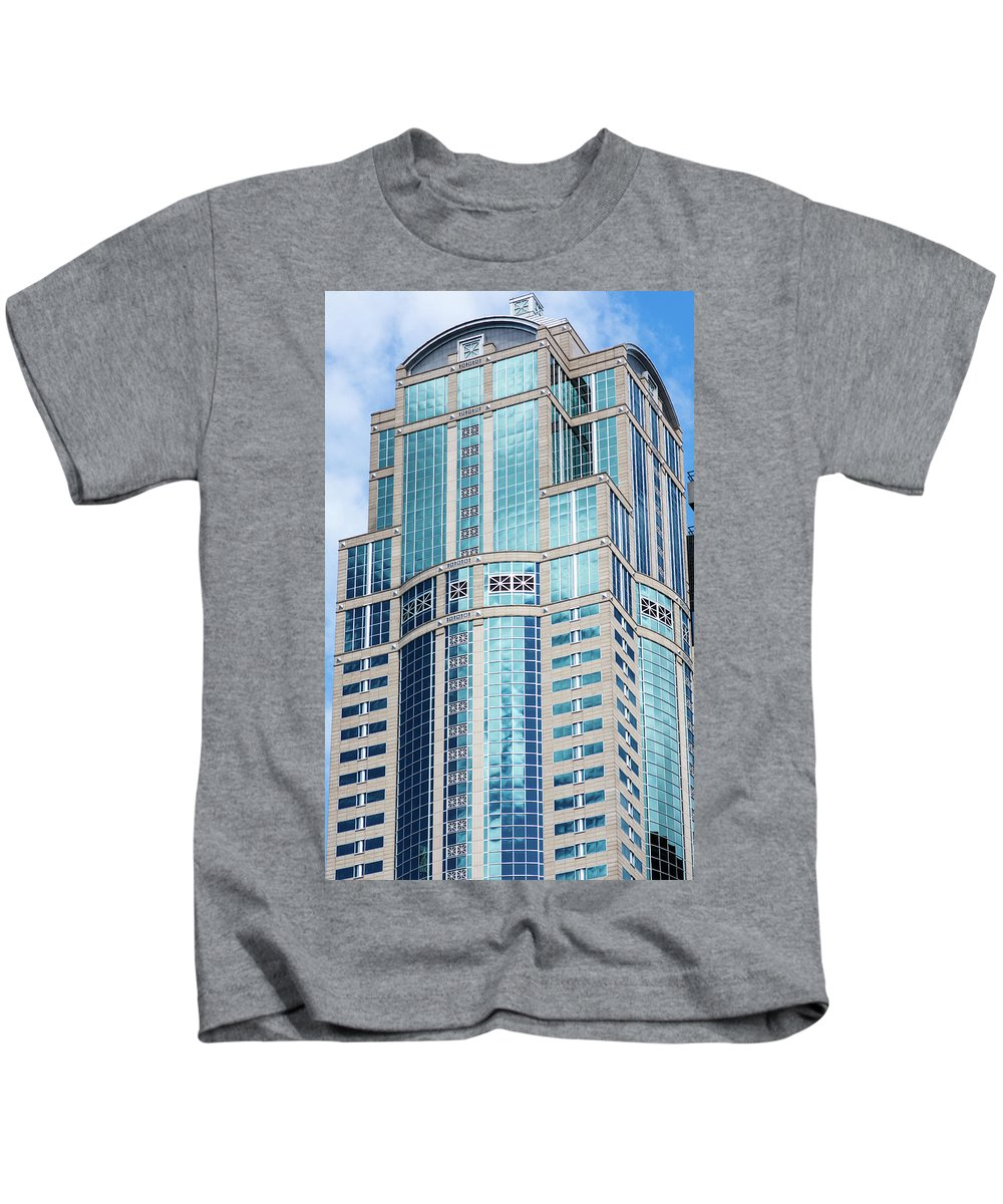 Seattle Kids T-Shirt featuring the photograph Seattle High Rise by Robert Briggs