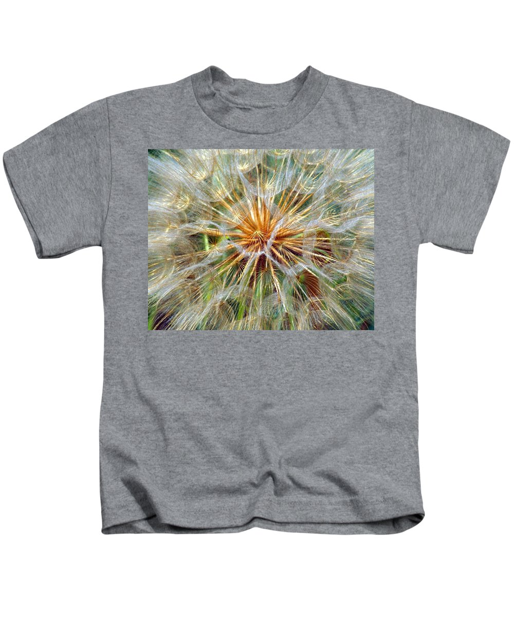 Wildflower Kids T-Shirt featuring the photograph Seeds by Marty Koch