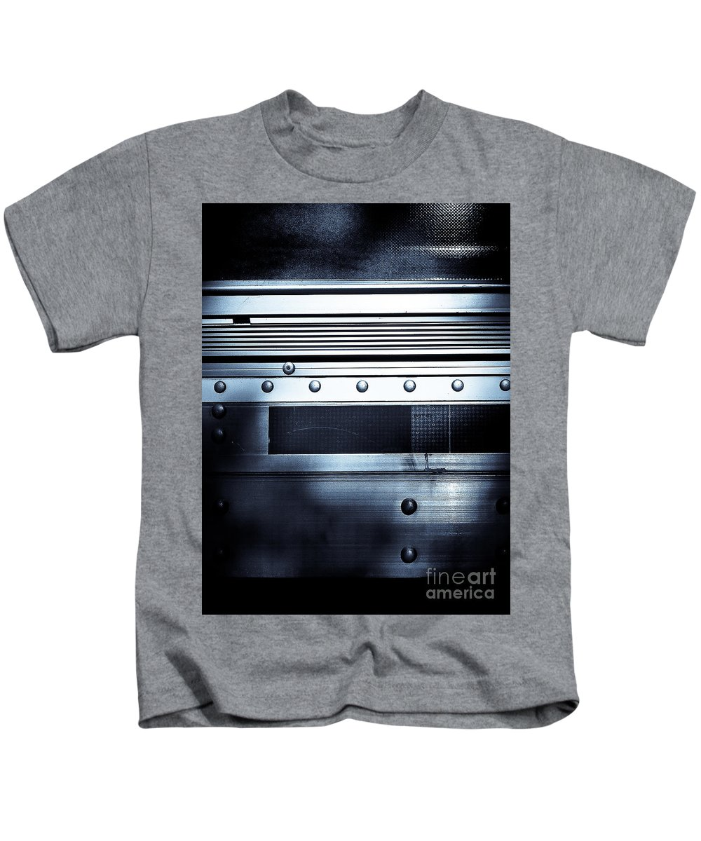 Metal Kids T-Shirt featuring the photograph Semi Truck Monocromatico by Fei A