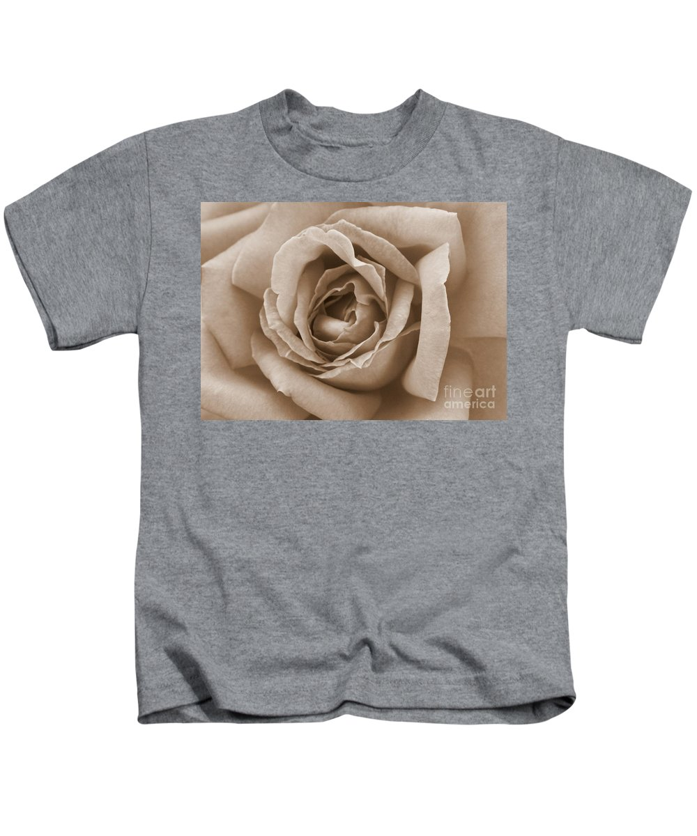 Sepia Kids T-Shirt featuring the photograph Sepia Rose by Carol Groenen