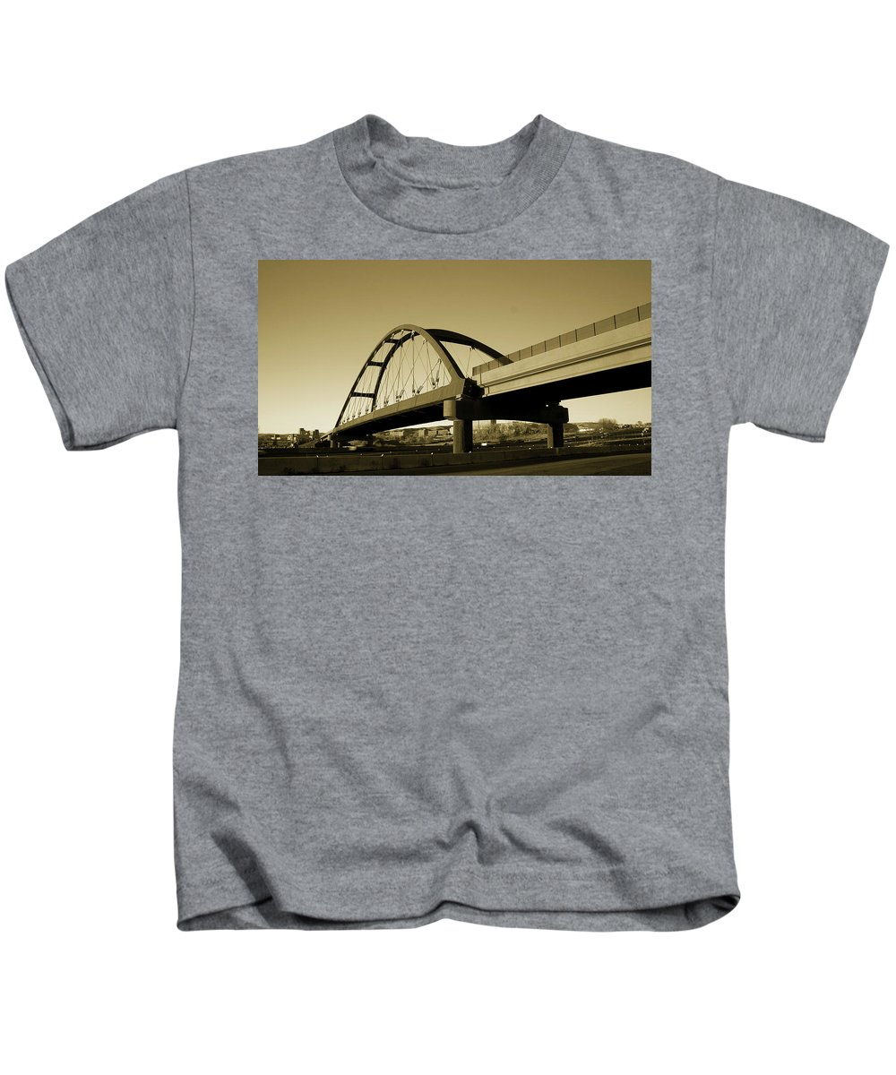 Sepia Kids T-Shirt featuring the photograph Sepia Treatment by Angus Hooper Iii