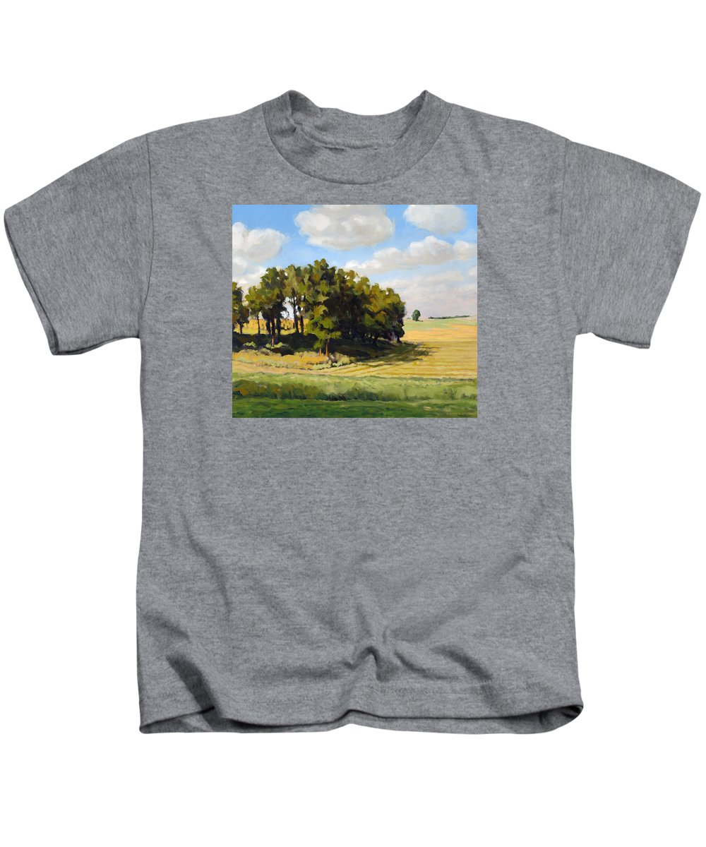 Landscape Kids T-Shirt featuring the painting September Summer by Bruce Morrison