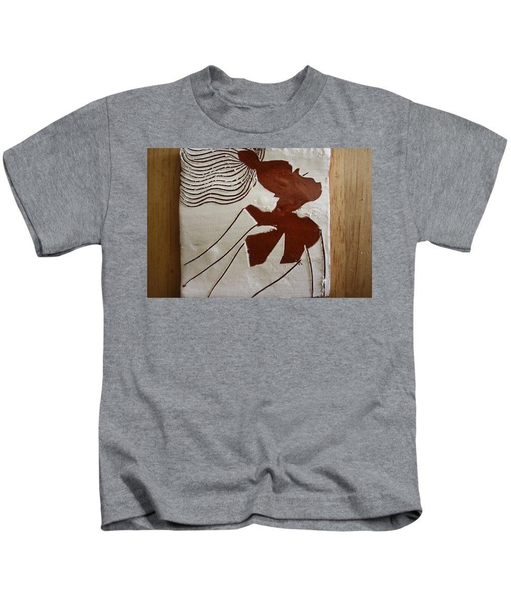 Jesus Kids T-Shirt featuring the ceramic art Serena - Tile by Gloria Ssali