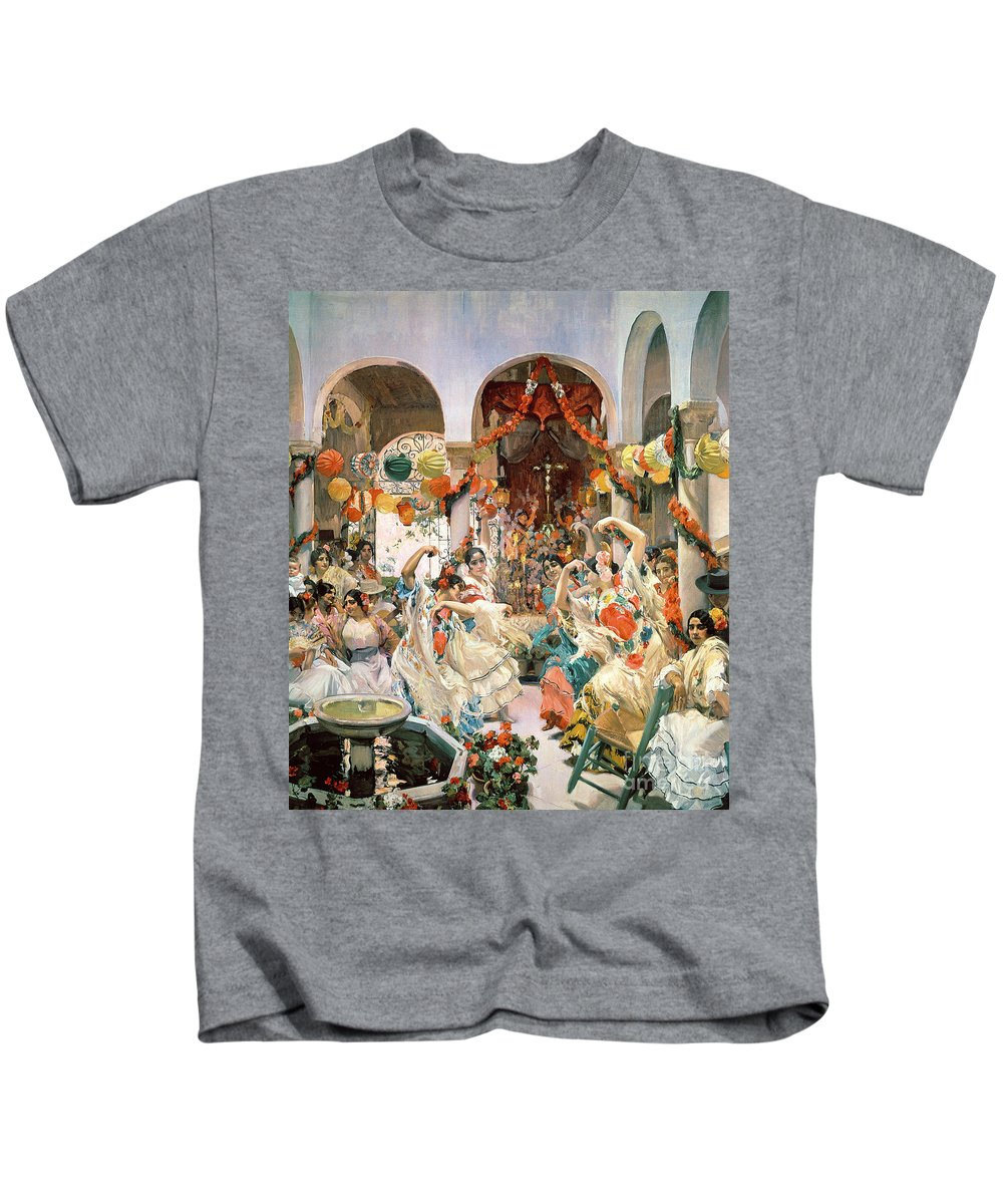 Seville Kids T-Shirt featuring the painting Seville by Joaquin Sorolla y Bastida