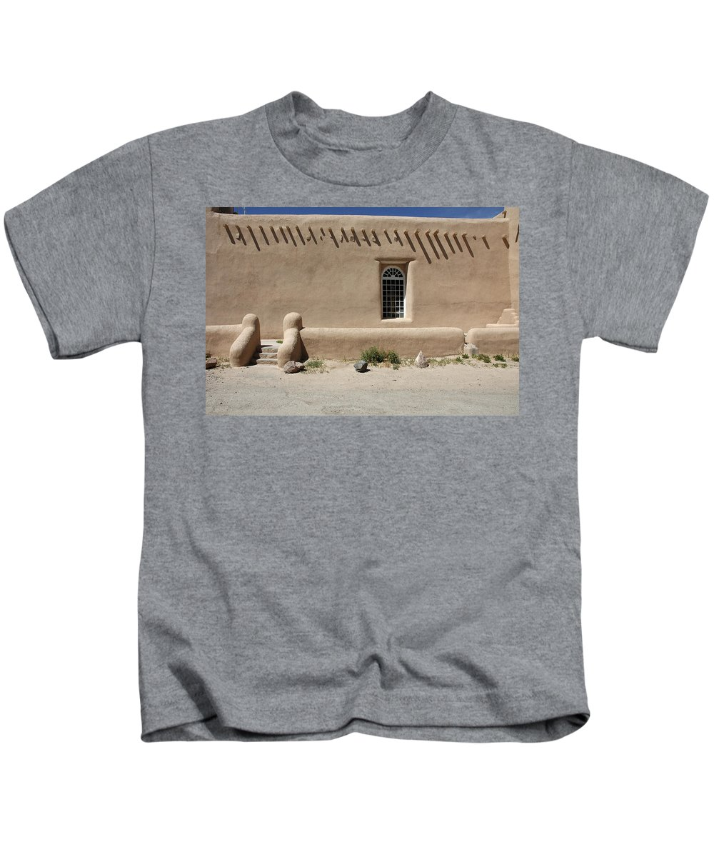 Adobe Kids T-Shirt featuring the photograph Shape And Pattern by Jerry McElroy